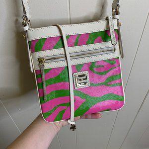 Dooney & Bourke Crossbody Pink Green Zebra Print